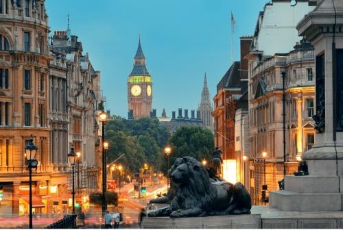 London - Sunset- Trafalgar square