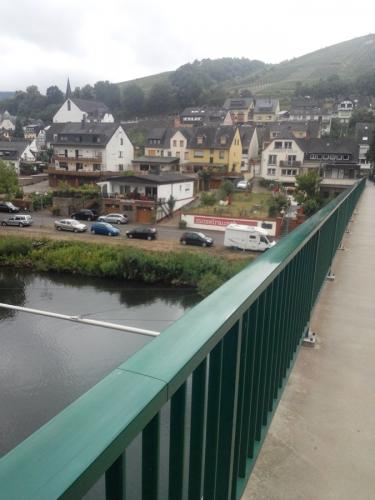 Mosel- View to Zell/Mosel from the bridge
